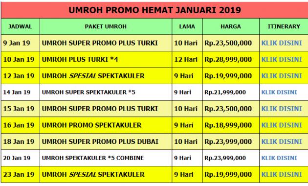 Umroh Plus Turki Januari 2019